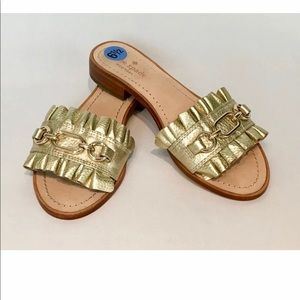 KATE Spade Brie Beau leather Raffle sandals